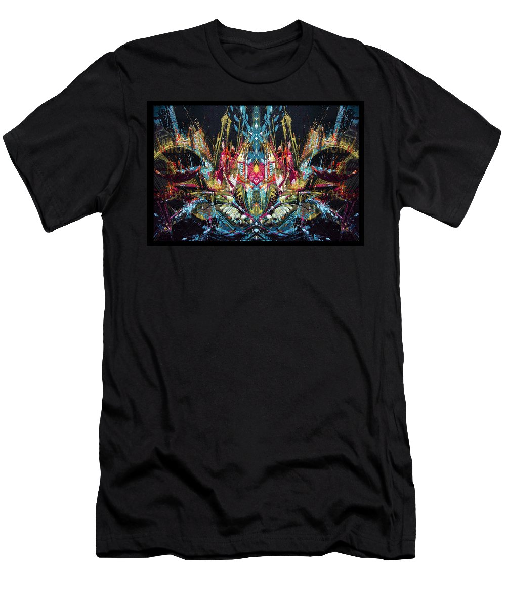 Abstract Men's T-Shirt (Athletic Fit) featuring the digital art Mechanical 572 11 by Zac AlleyWalker Lowing