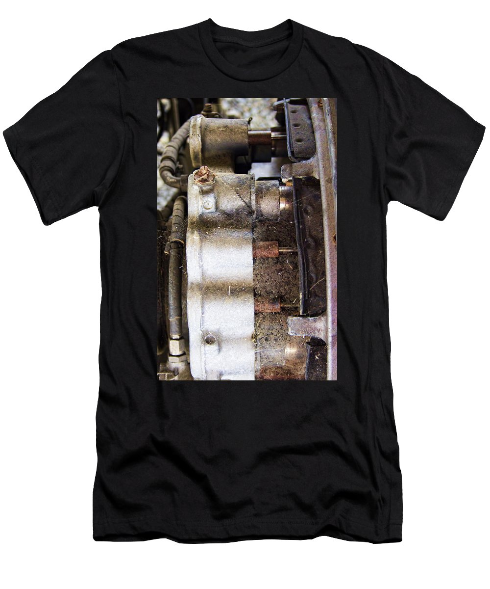 Men's T-Shirt (Athletic Fit) featuring the photograph Mechanical Of An Airplane by Cathy Anderson