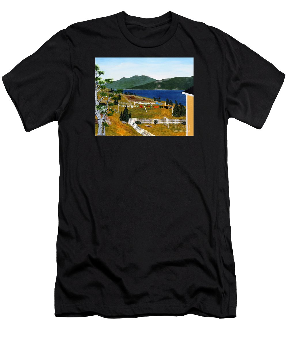 Barbara Griffin Men's T-Shirt (Athletic Fit) featuring the painting Memories Of Monday by Barbara Griffin