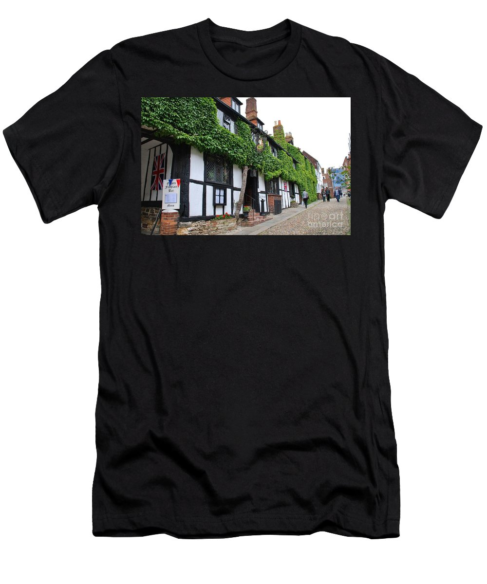 Day Men's T-Shirt (Athletic Fit) featuring the photograph Mermaid Inn Rye by David Fowler