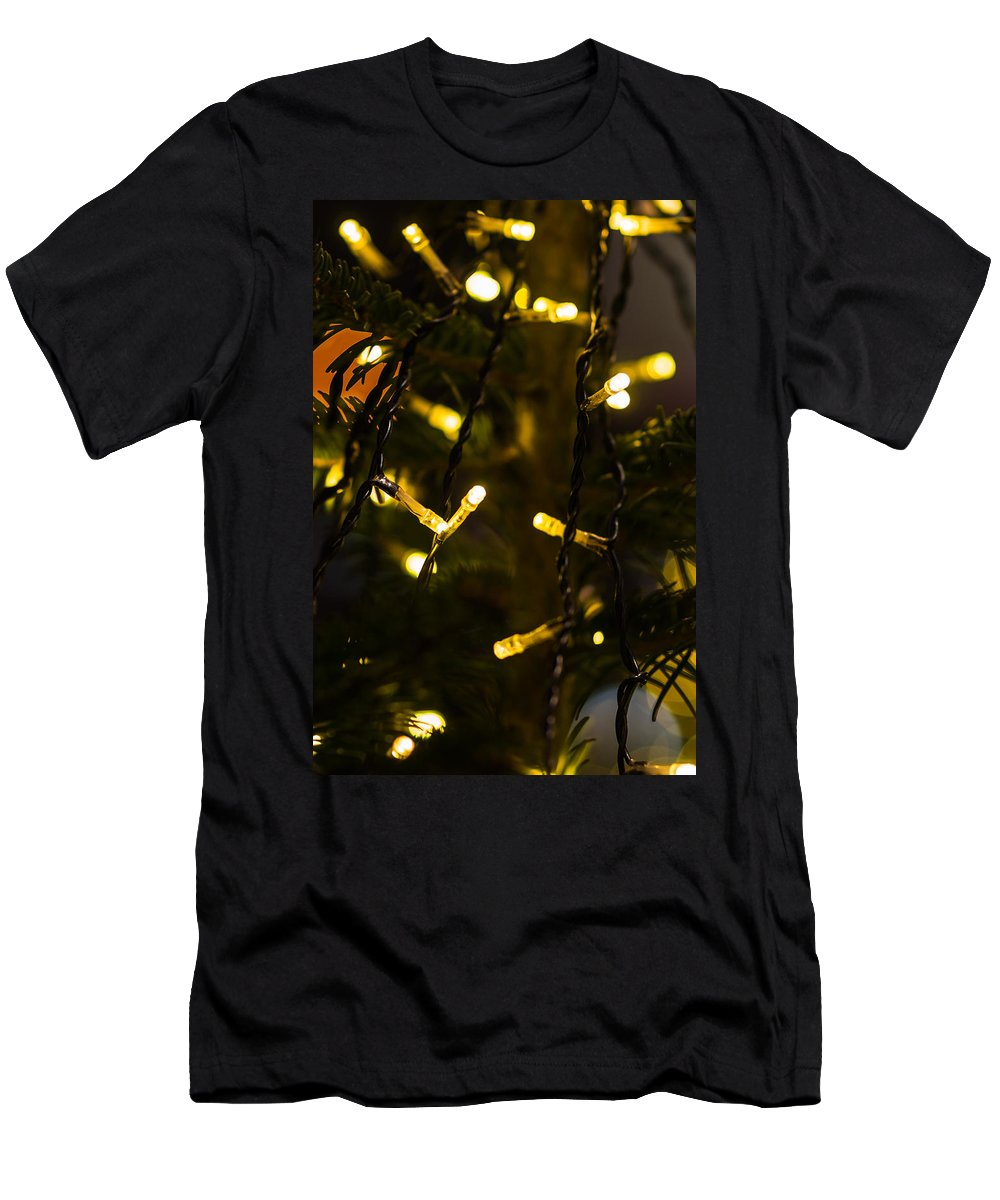 Backdrop Men's T-Shirt (Athletic Fit) featuring the photograph Merry Christmas 3 by Alexander Senin