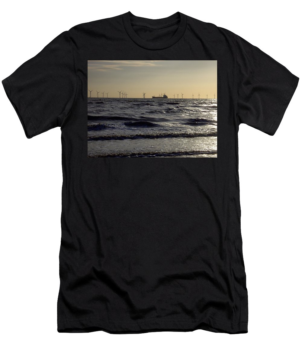 River Men's T-Shirt (Athletic Fit) featuring the photograph Mersey Tanker by Steve Kearns