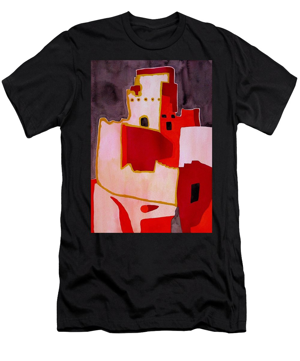 Colorado Plateau Men's T-Shirt (Athletic Fit) featuring the painting Mesa Verde Original Painting Sold by Sol Luckman