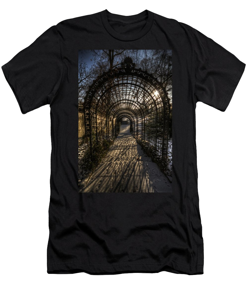 Background Men's T-Shirt (Athletic Fit) featuring the digital art Metal Garden by Nathan Wright