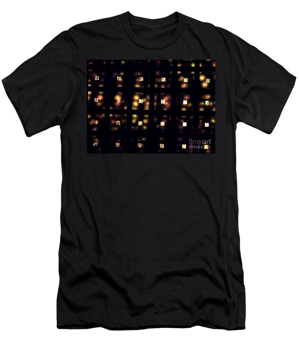 Apophysis Men's T-Shirt (Athletic Fit) featuring the digital art Metropolis by Kim Sy Ok