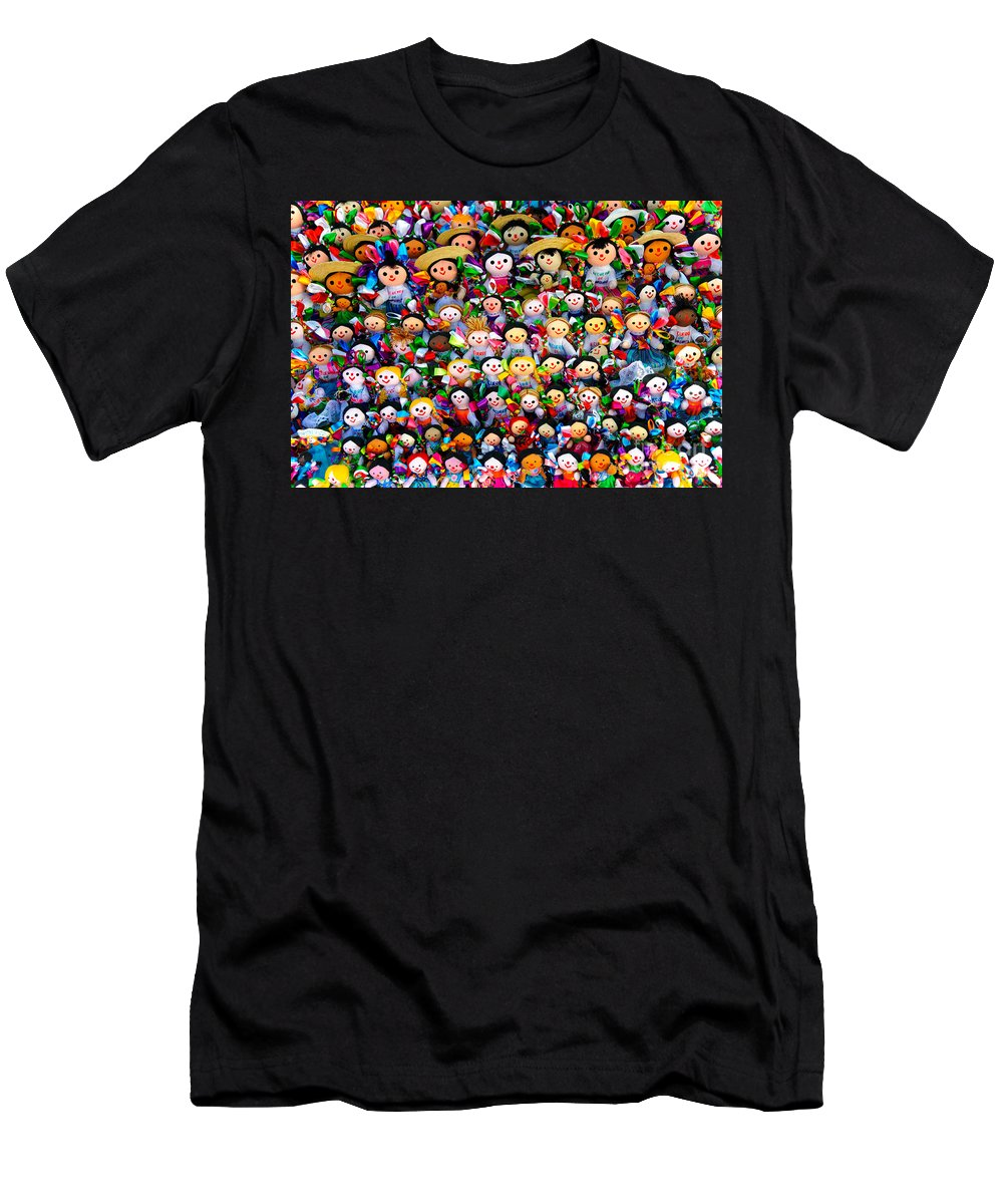 Travel Men's T-Shirt (Athletic Fit) featuring the photograph Mexican Dolls by John Shaw