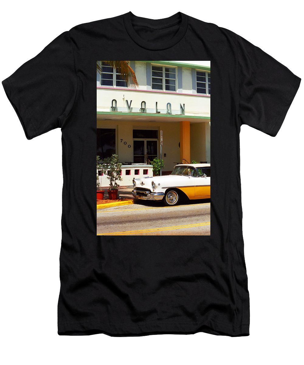 Art Men's T-Shirt (Athletic Fit) featuring the photograph Miami Beach - Art Deco by Frank Romeo