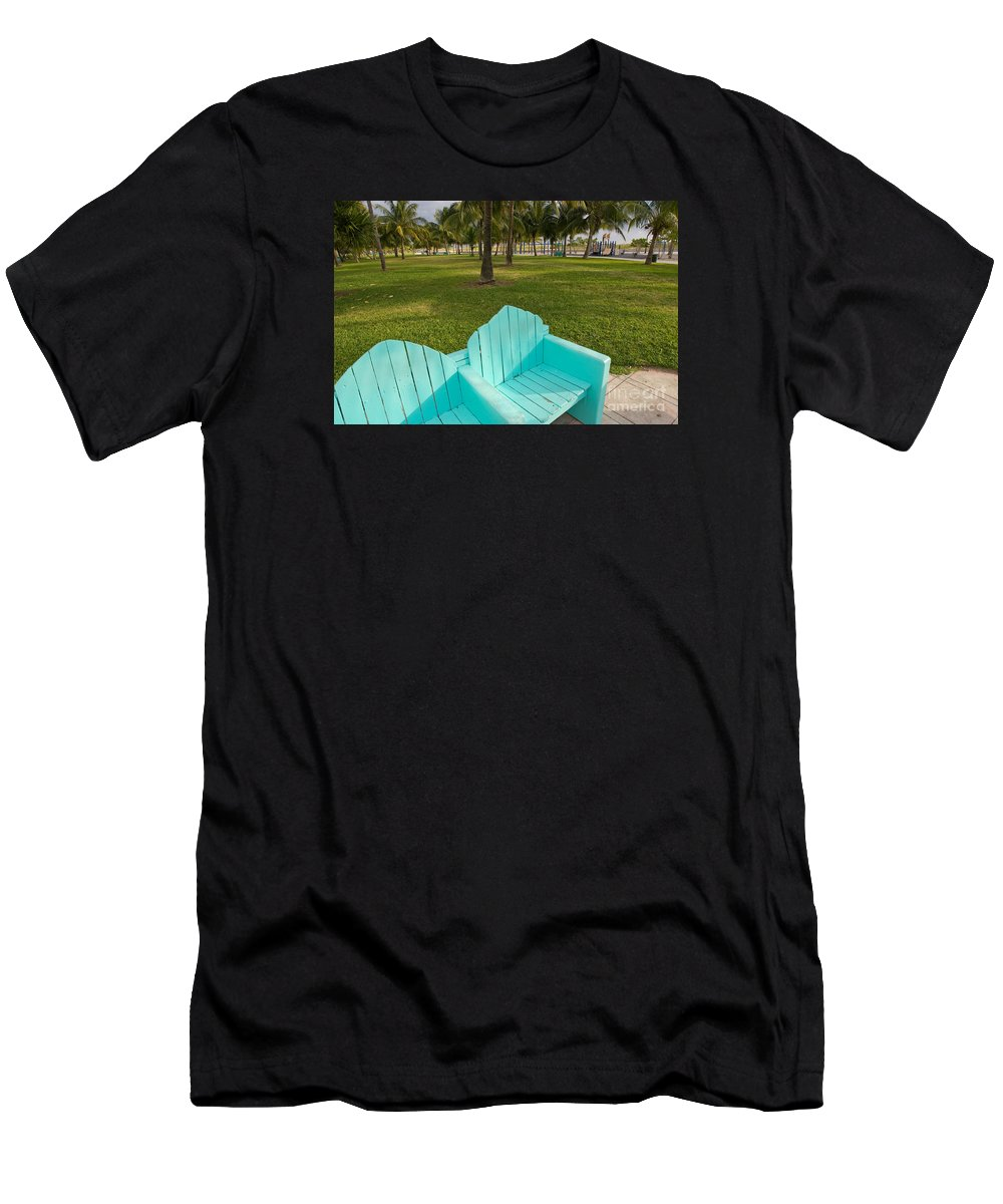 Florida Men's T-Shirt (Athletic Fit) featuring the photograph Miami Beach Colors by Thomas Levine