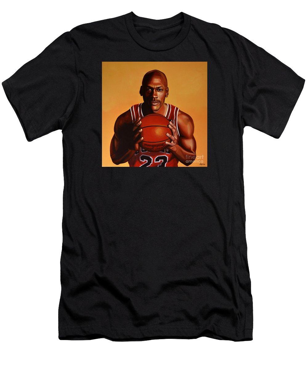 1666f67c6d3dea Michael Jordan 2 T-Shirt for Sale by Paul Meijering