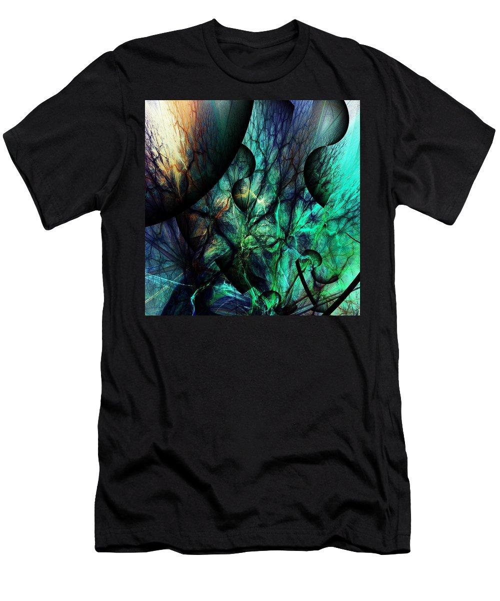 Fine Art Men's T-Shirt (Athletic Fit) featuring the digital art Microcosm by David Lane