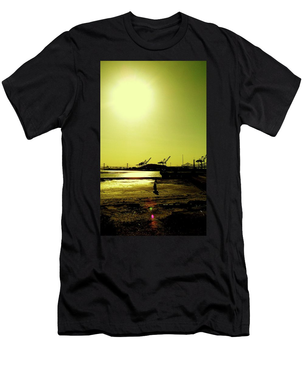 W. Axxemanne Kenneth Fitzhugh Photography Men's T-Shirt (Athletic Fit) featuring the photograph Middle Harbor Shoreline Park by W Axxemanne