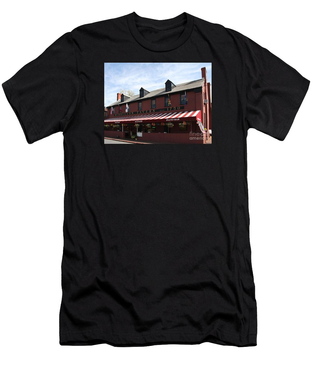 Middleton Tavern Men's T-Shirt (Athletic Fit) featuring the photograph Middleton Tavern - Annapolis by Christiane Schulze Art And Photography