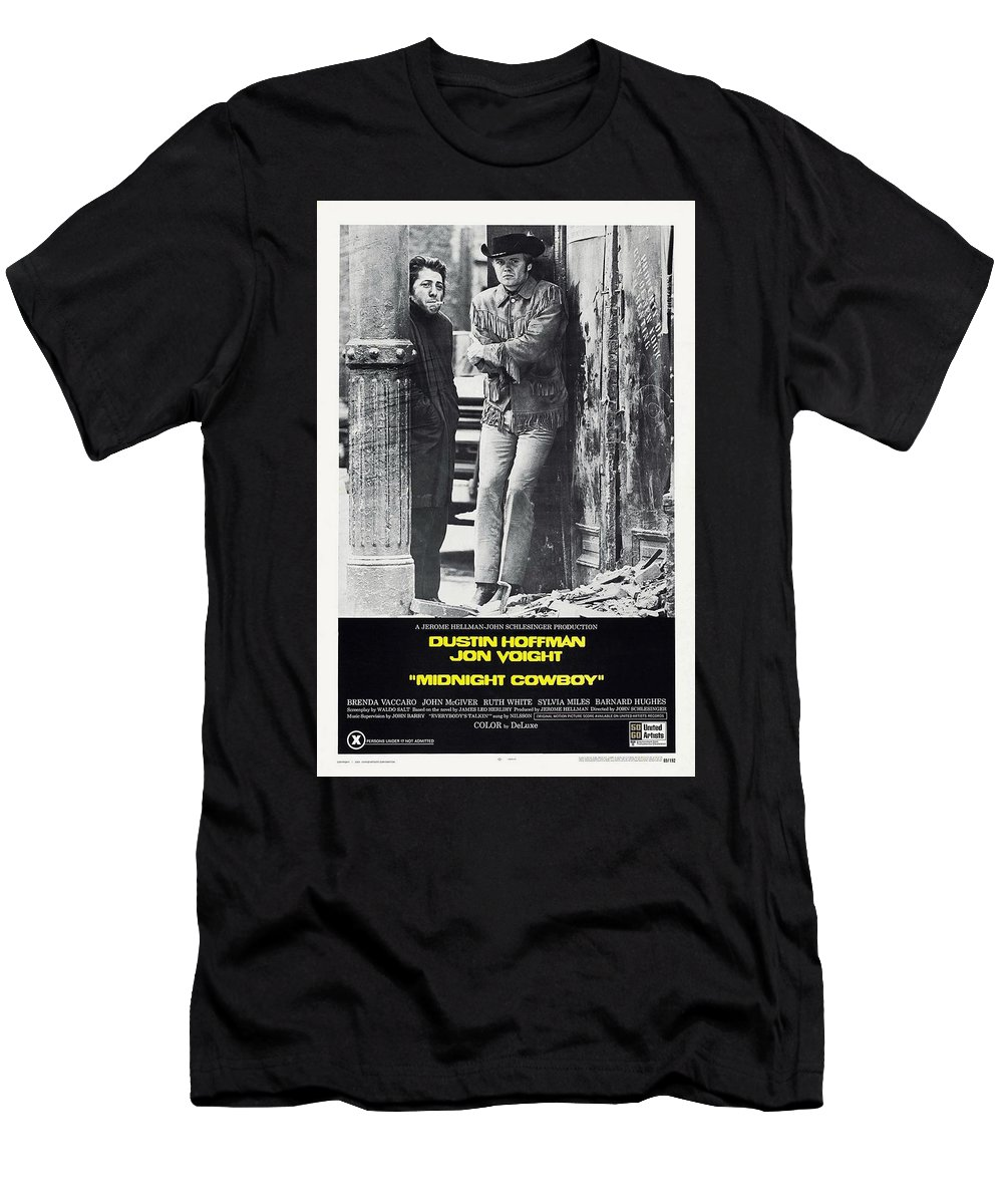 Midnight Cowboy Men's T-Shirt (Athletic Fit) featuring the photograph Midnight Cowboy by Movie Poster Prints