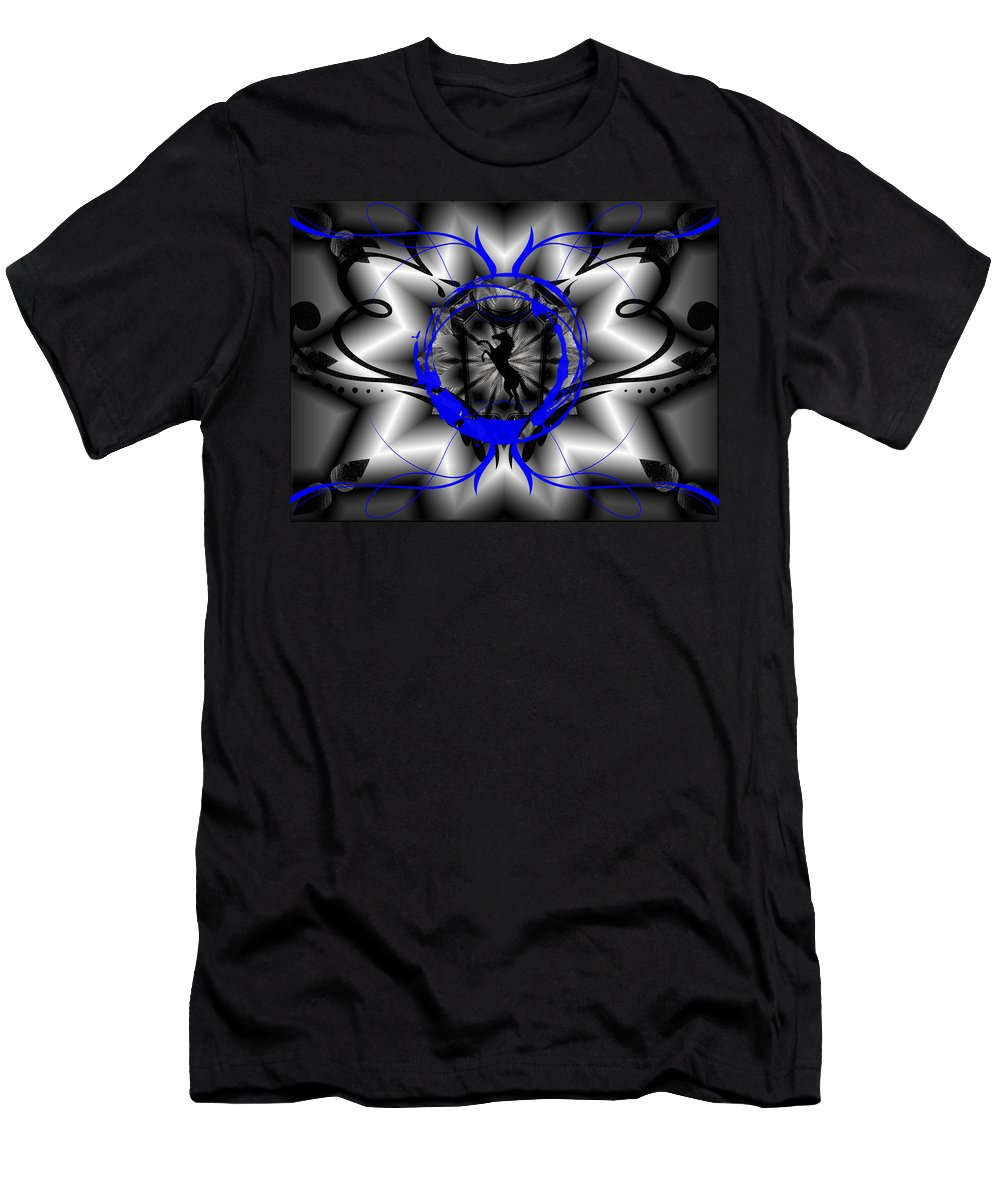 Midnight Men's T-Shirt (Athletic Fit) featuring the digital art Midnight Rider by Michael Damiani