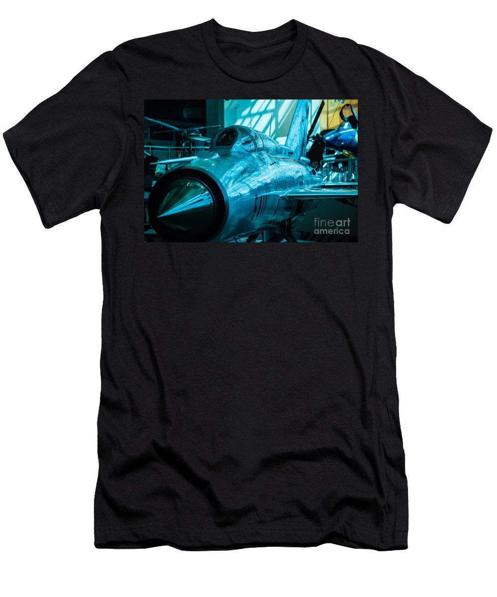 Aircraft Men's T-Shirt (Athletic Fit) featuring the photograph Mig21 Pf by Rich Priest
