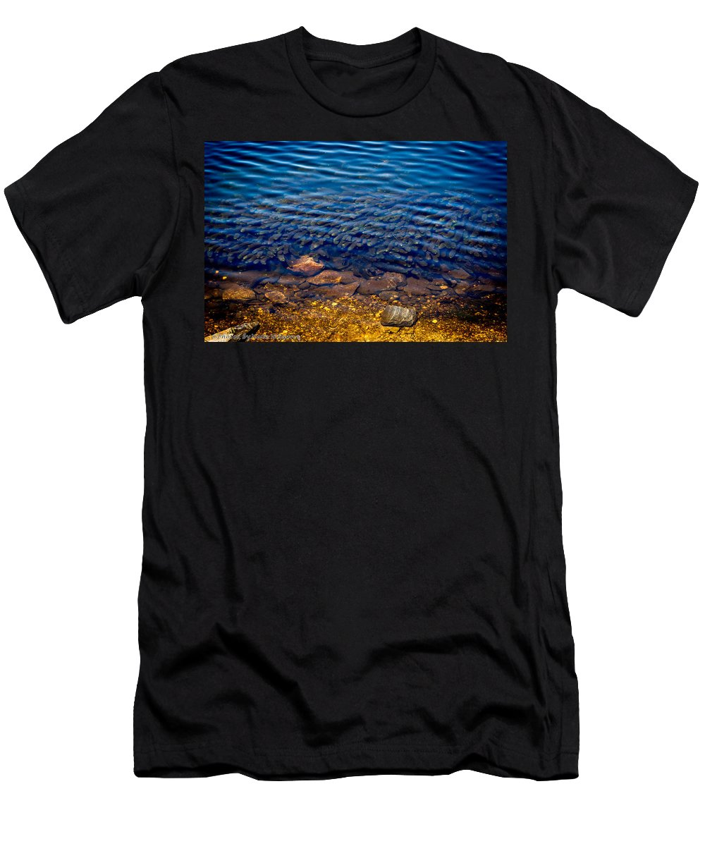 Variable Milfoil Men's T-Shirt (Athletic Fit) featuring the photograph Milfoil Invasion by Nate Wilson