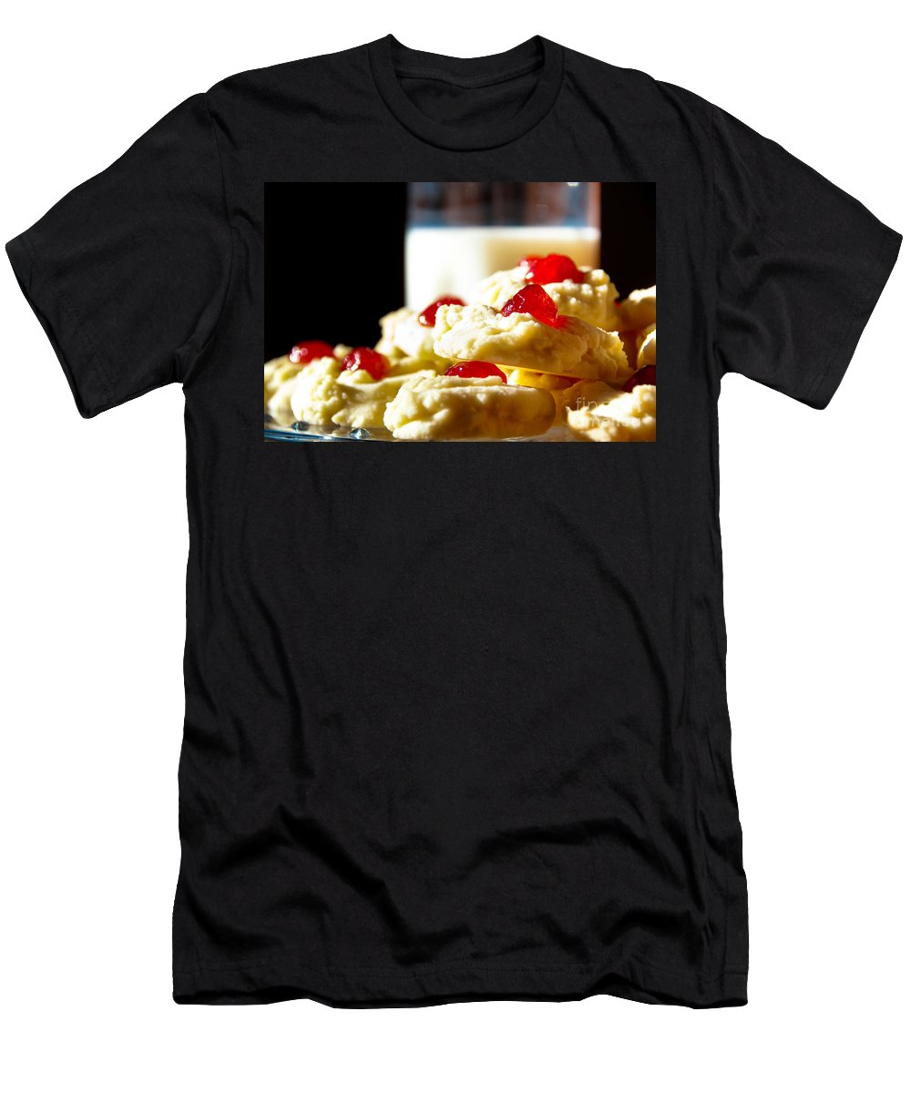Cookies Men's T-Shirt (Athletic Fit) featuring the photograph Milk And Cookies by Cheryl Baxter