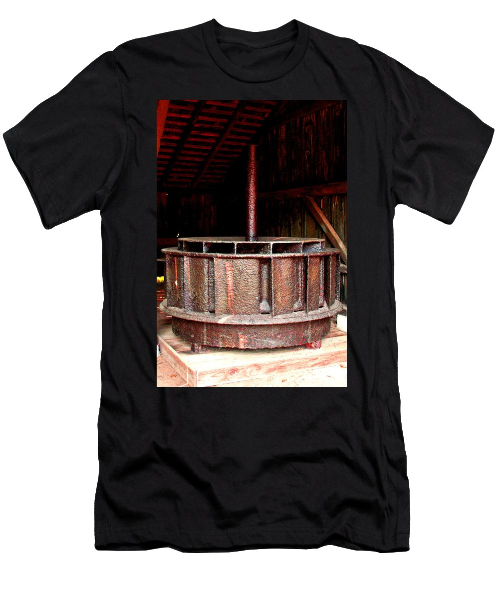 Mill Wheel Men's T-Shirt (Athletic Fit) featuring the photograph Mill Wheel by Pablo Rosales