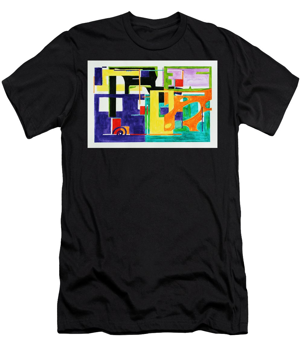 Watercolor Men's T-Shirt (Athletic Fit) featuring the painting Mindscape II by Xueling Zou