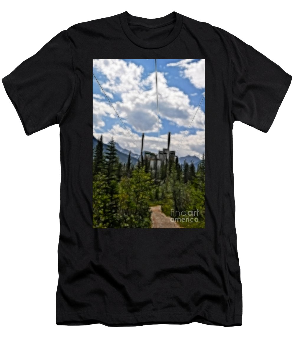 Industrial Men's T-Shirt (Athletic Fit) featuring the photograph Mining Plant Fractal by Matthew Naiden
