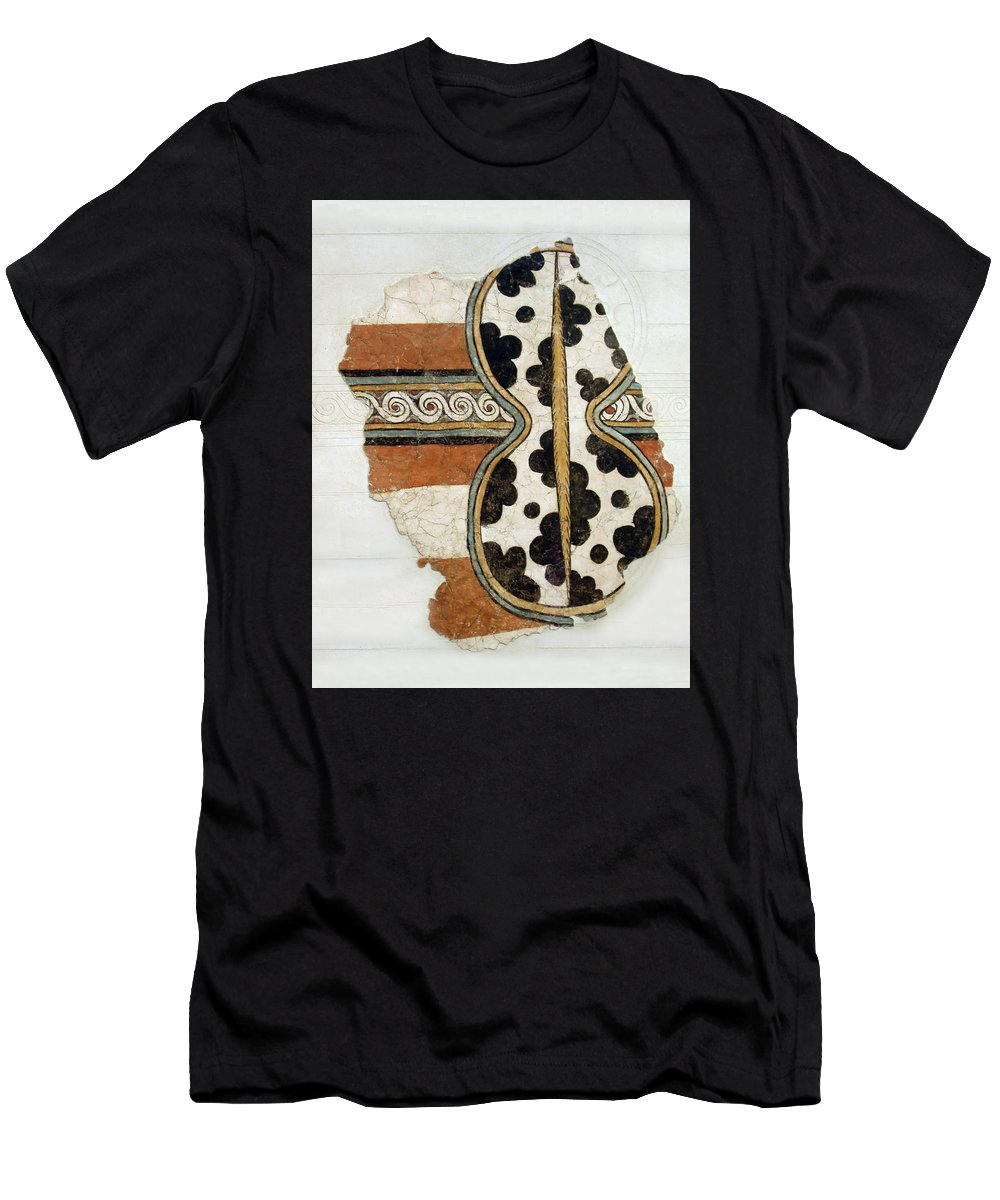 Minoan Livestock Painting Men's T-Shirt (Athletic Fit) featuring the photograph Minoan Livestock Painting by Ellen Henneke