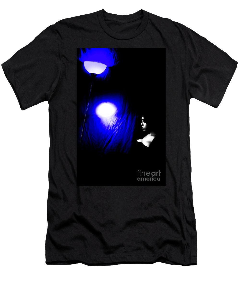 Black Men's T-Shirt (Athletic Fit) featuring the photograph Misery by Jessica Shelton
