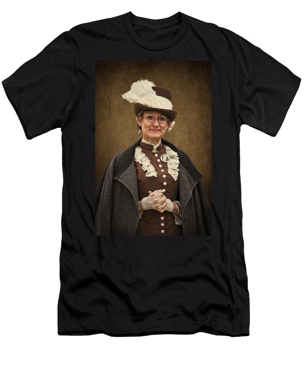 Miss Prim Men's T-Shirt (Athletic Fit) featuring the photograph Miss Prim by Priscilla Burgers