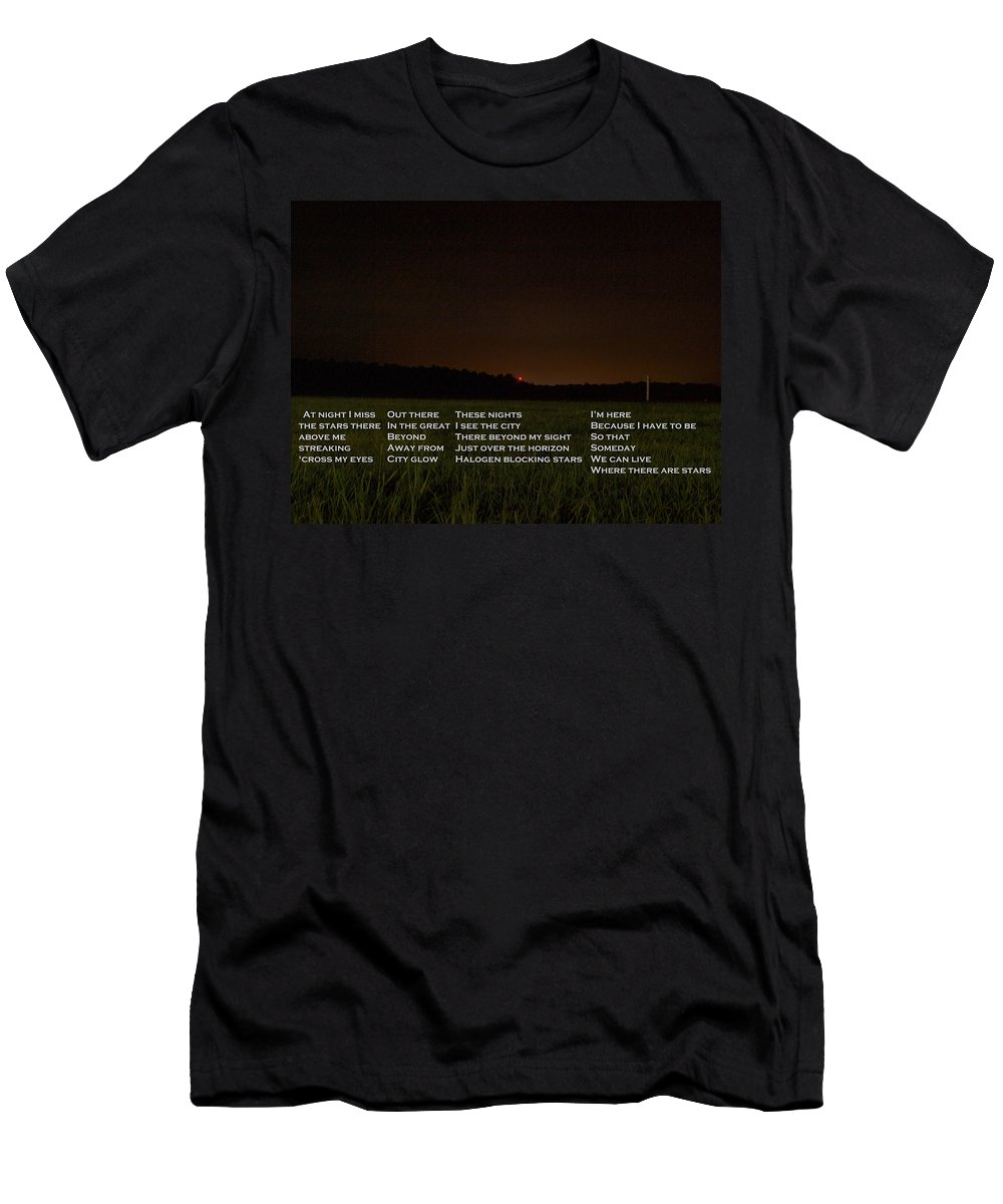 Joshua House Photography Men's T-Shirt (Athletic Fit) featuring the photograph Missing The Sky by Joshua House