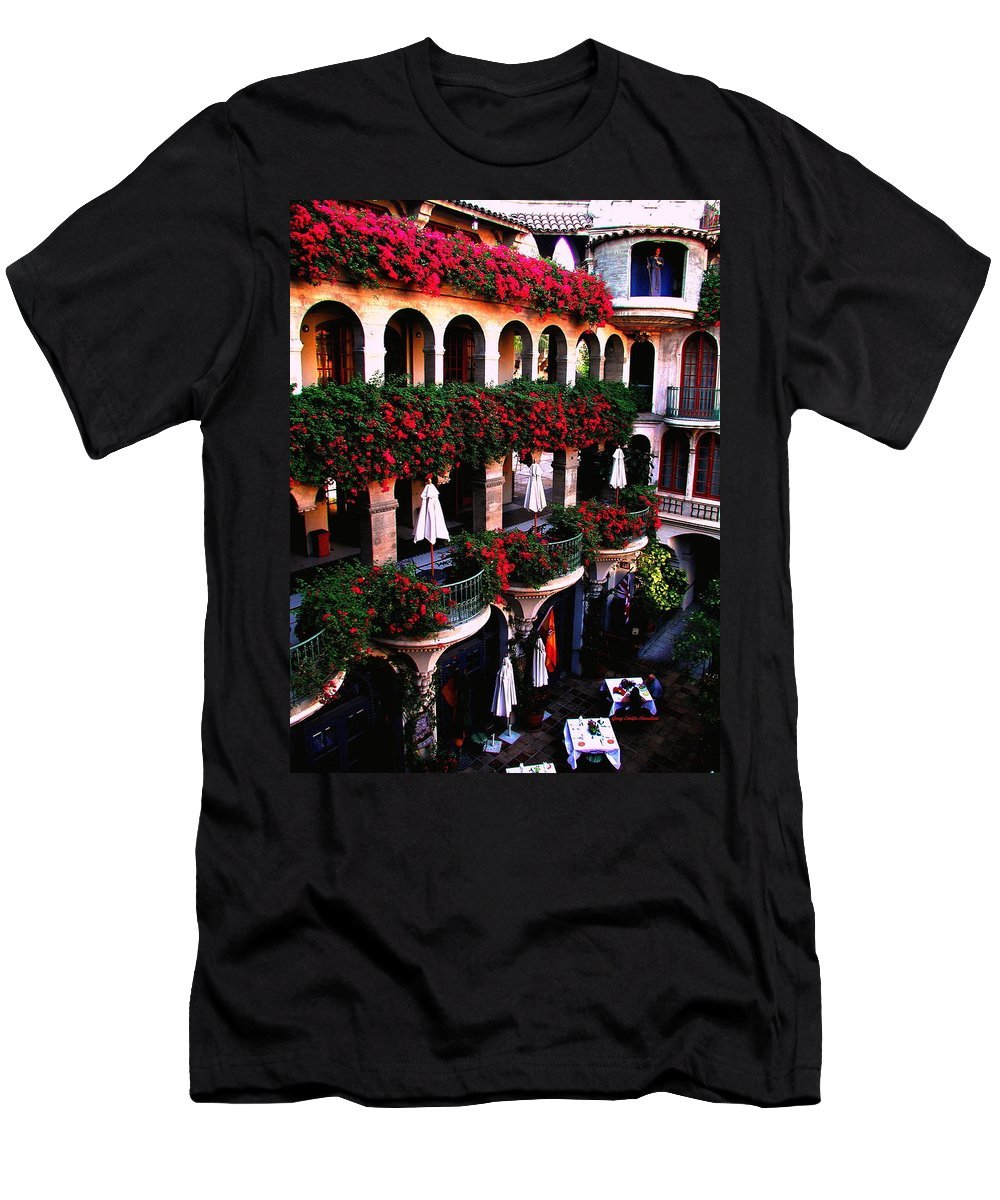 Mission Inn Men's T-Shirt (Athletic Fit) featuring the photograph Mission Inn Portrait by Gary Emilio Cavalieri