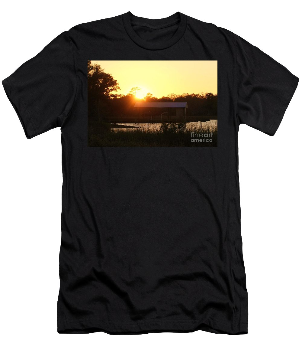Mississippi Men's T-Shirt (Athletic Fit) featuring the photograph Mississippi Bayou 5 by Michelle Powell