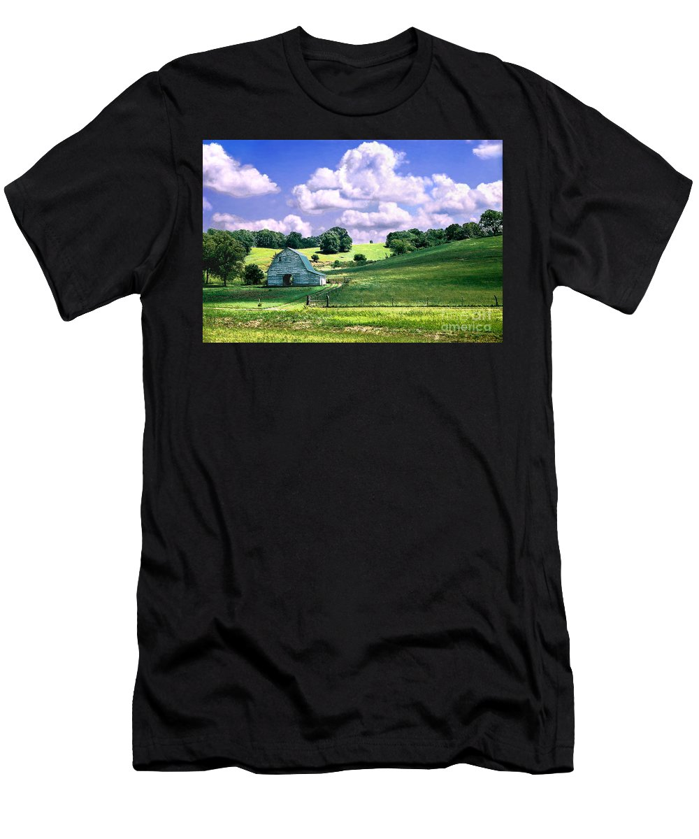 Landscape Men's T-Shirt (Athletic Fit) featuring the photograph Missouri River Valley by Steve Karol
