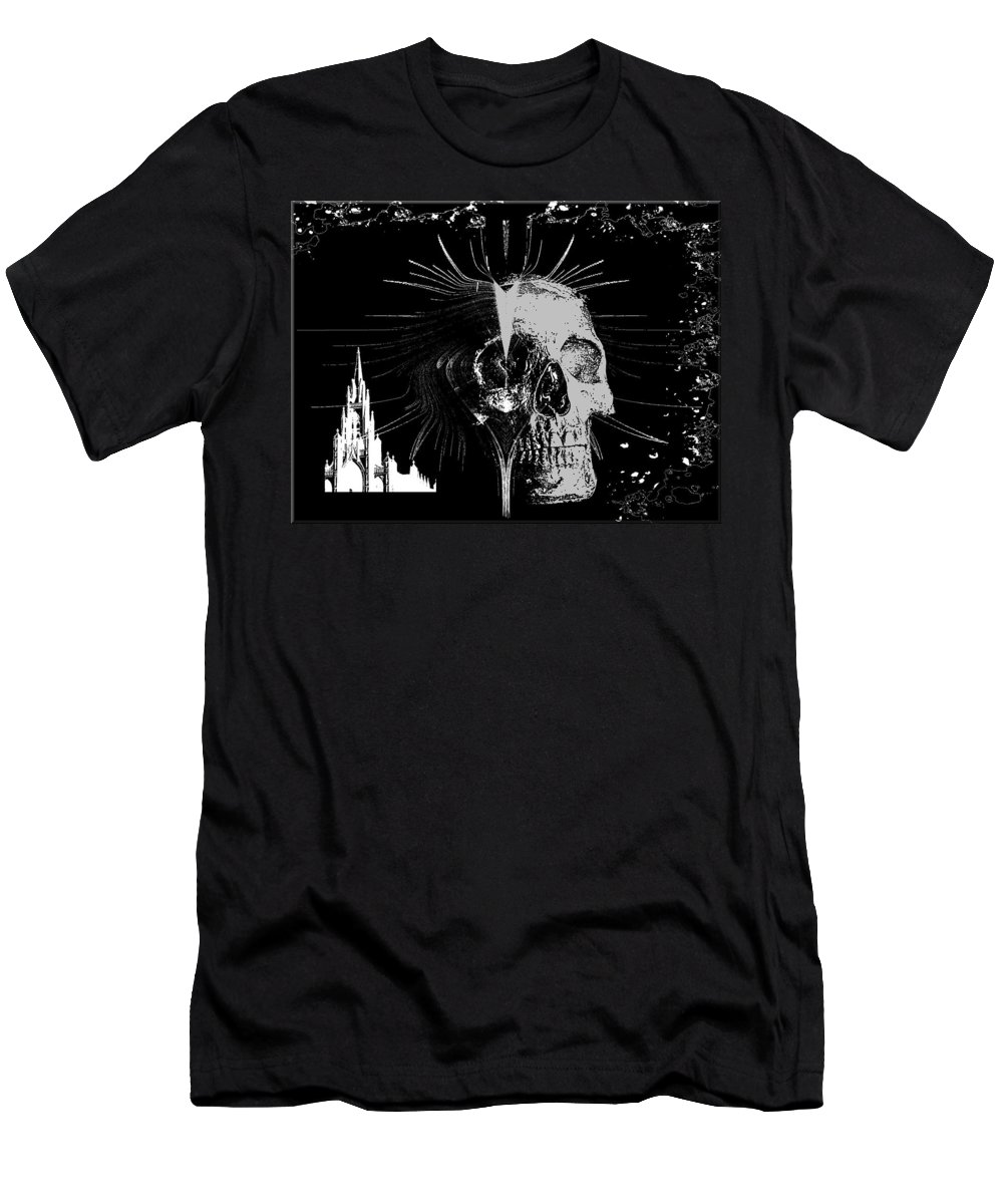 Mist Men's T-Shirt (Athletic Fit) featuring the digital art Mist Of Death by Michael Damiani