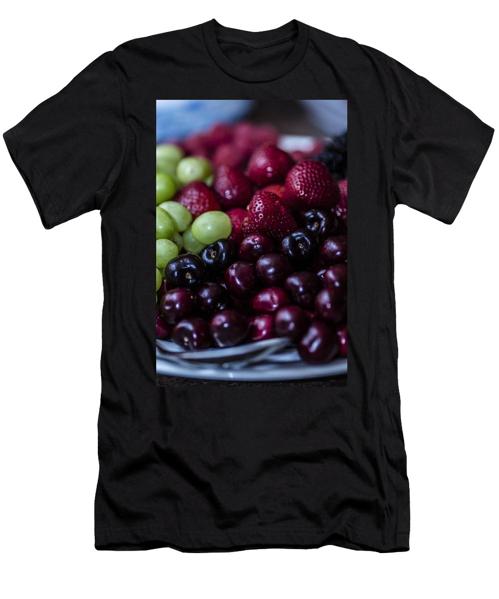 Green Grapes Men's T-Shirt (Athletic Fit) featuring the photograph Mixed Fruit by Stephen Brown