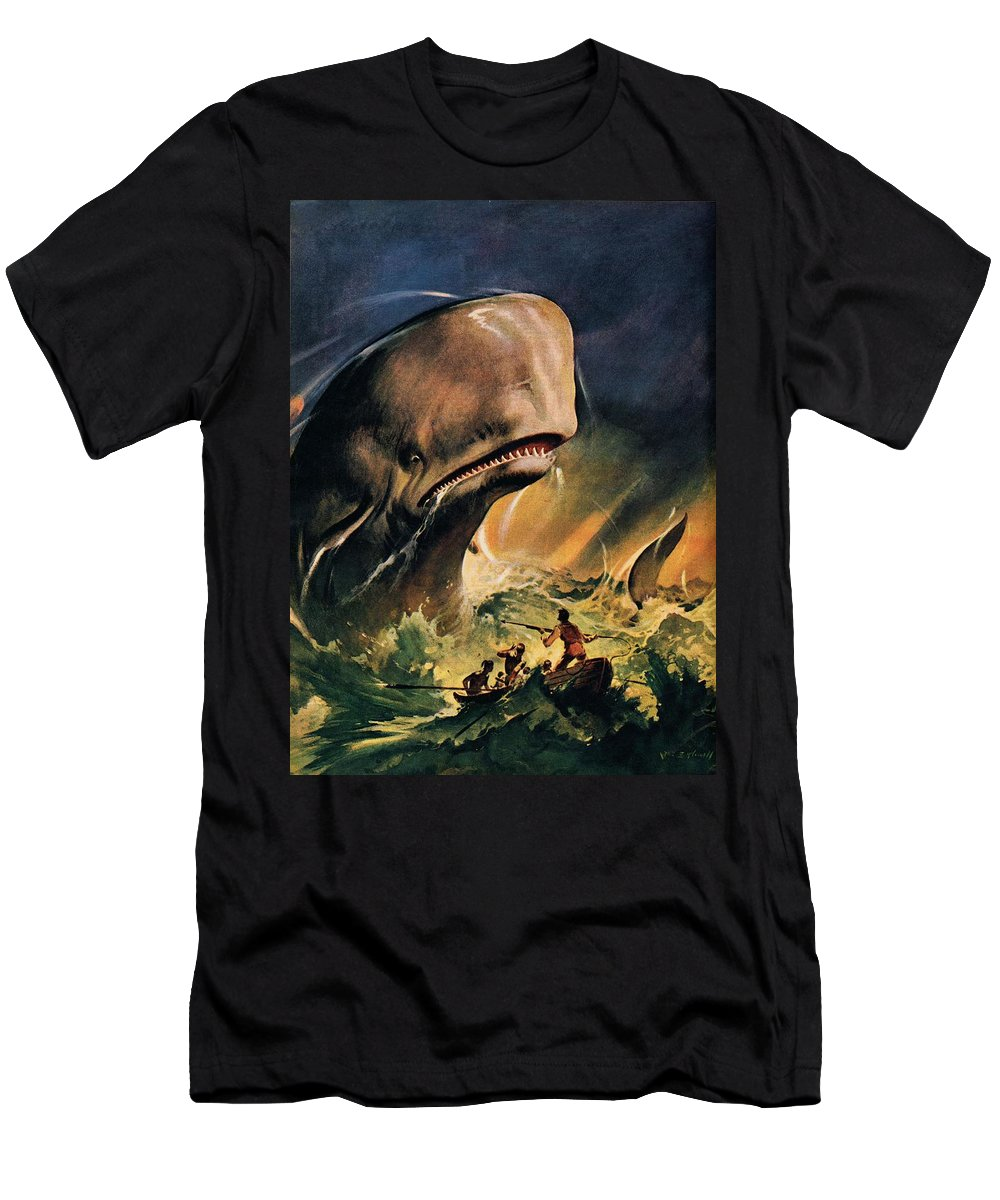 Moby Dick T-Shirt featuring the painting Moby Dick by James Edwin McConnell
