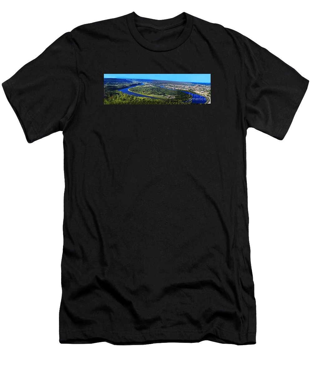 Travel Men's T-Shirt (Athletic Fit) featuring the photograph Moccasin Bend by Elvis Vaughn