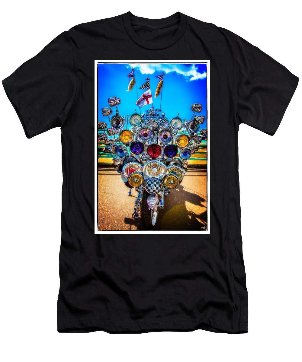Mod Men's T-Shirt (Athletic Fit) featuring the photograph Mod Transport by Chris Lord