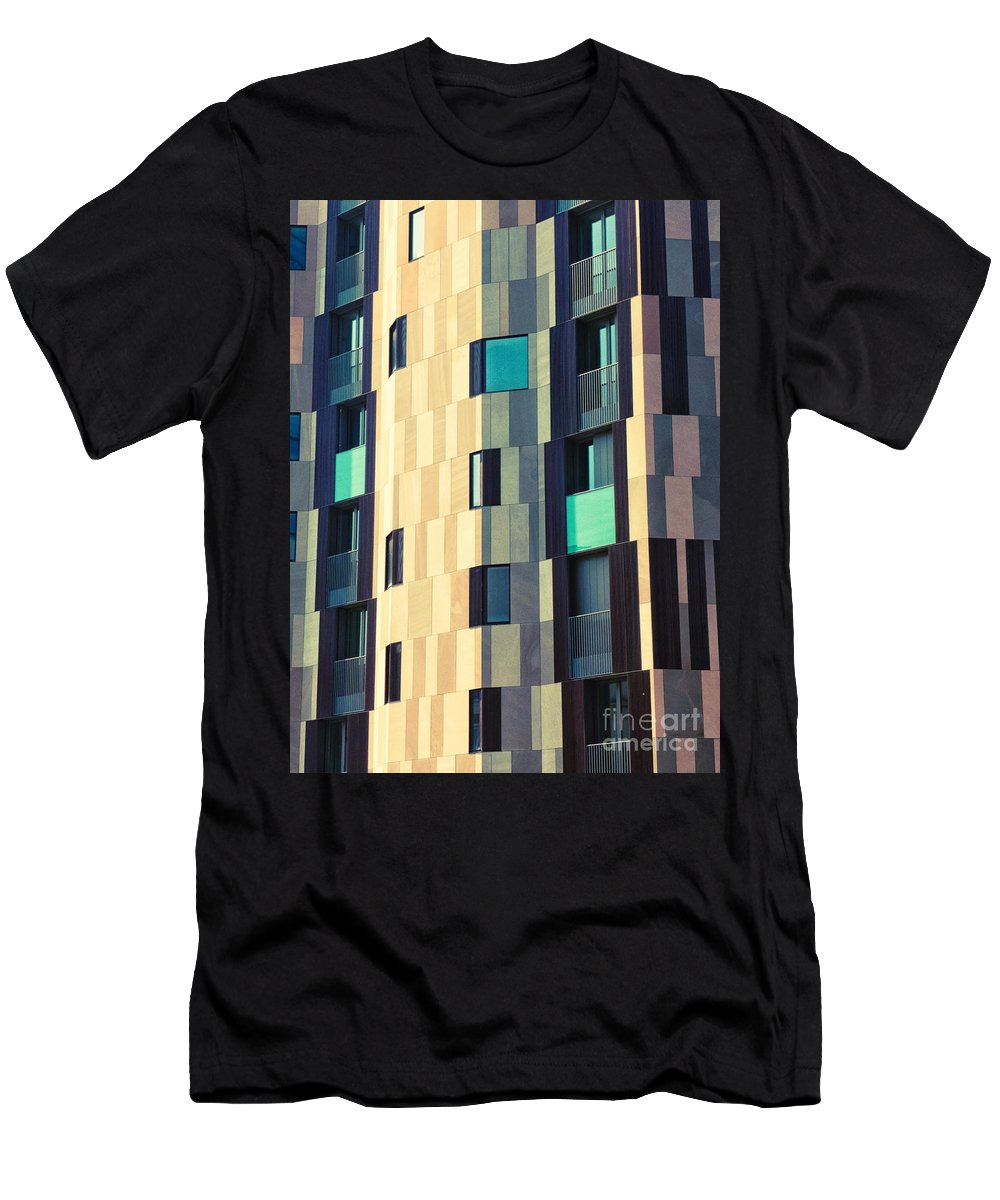 Abstract Men's T-Shirt (Athletic Fit) featuring the photograph Modern Facade by Silvia Ganora