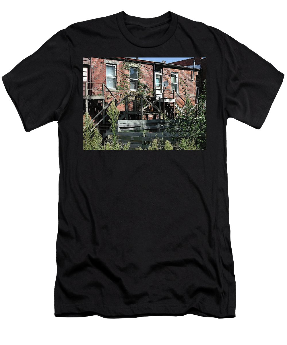 Back Entrances Men's T-Shirt (Athletic Fit) featuring the photograph Modern Life by Joseph Yarbrough