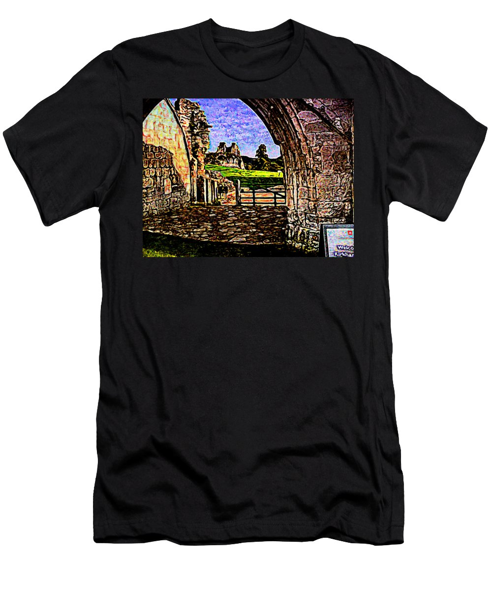 Modernist Painting Men's T-Shirt (Athletic Fit) featuring the painting Modernist Painting by Bruce Nutting