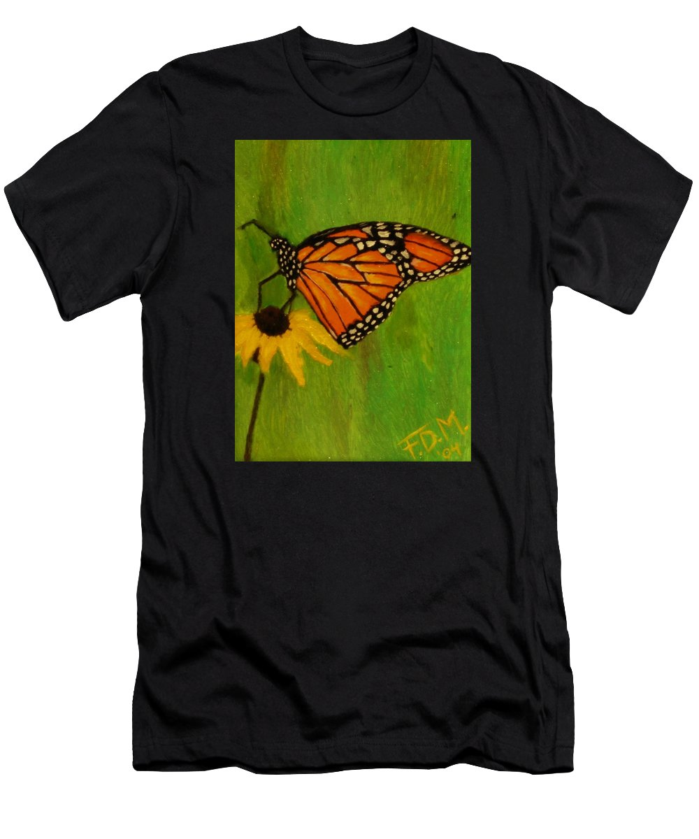 Butterfly Men's T-Shirt (Athletic Fit) featuring the painting Monarch by Frank Middleton