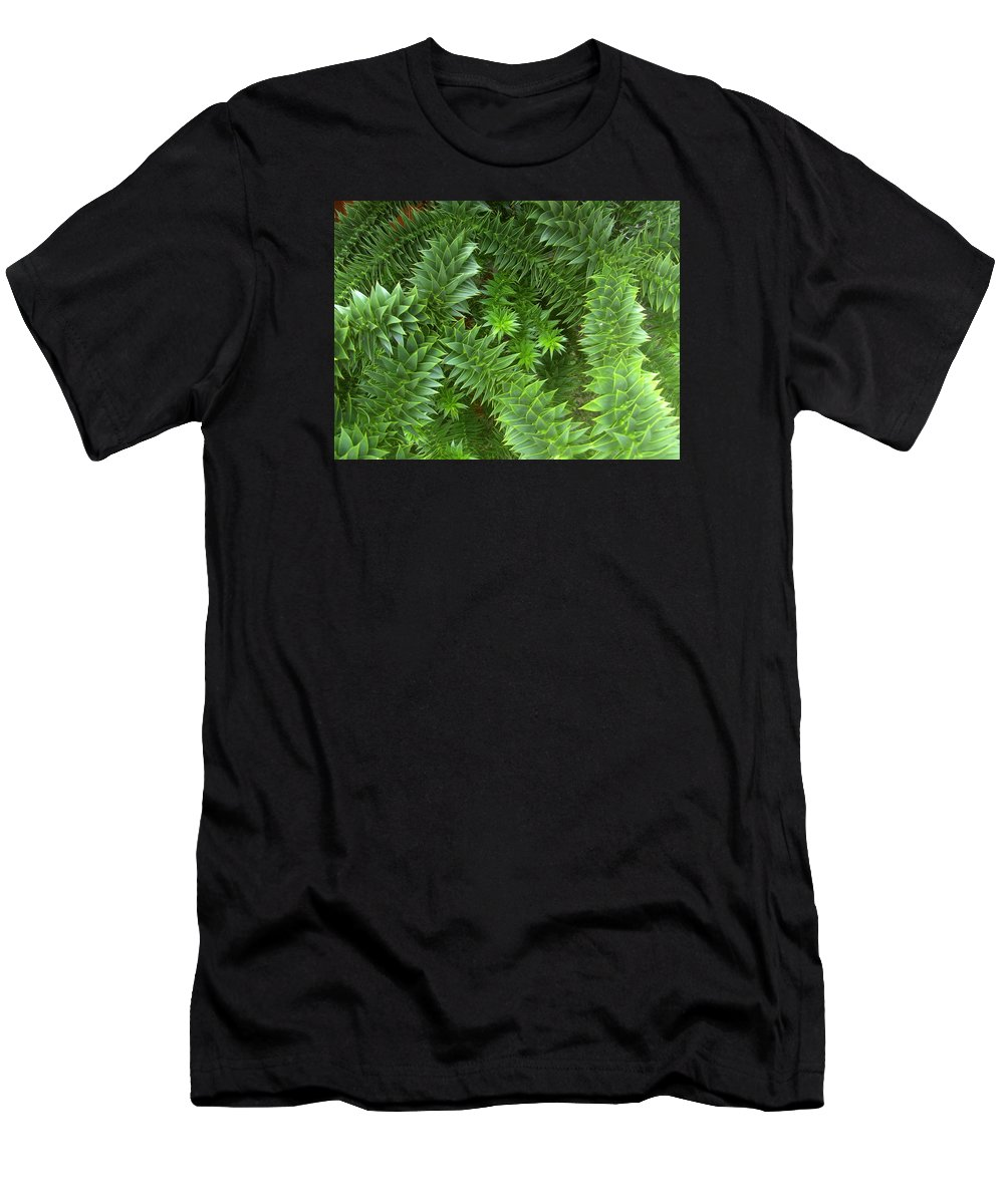 Monkey Men's T-Shirt (Athletic Fit) featuring the photograph Monkey Puzzle by Steve Kearns