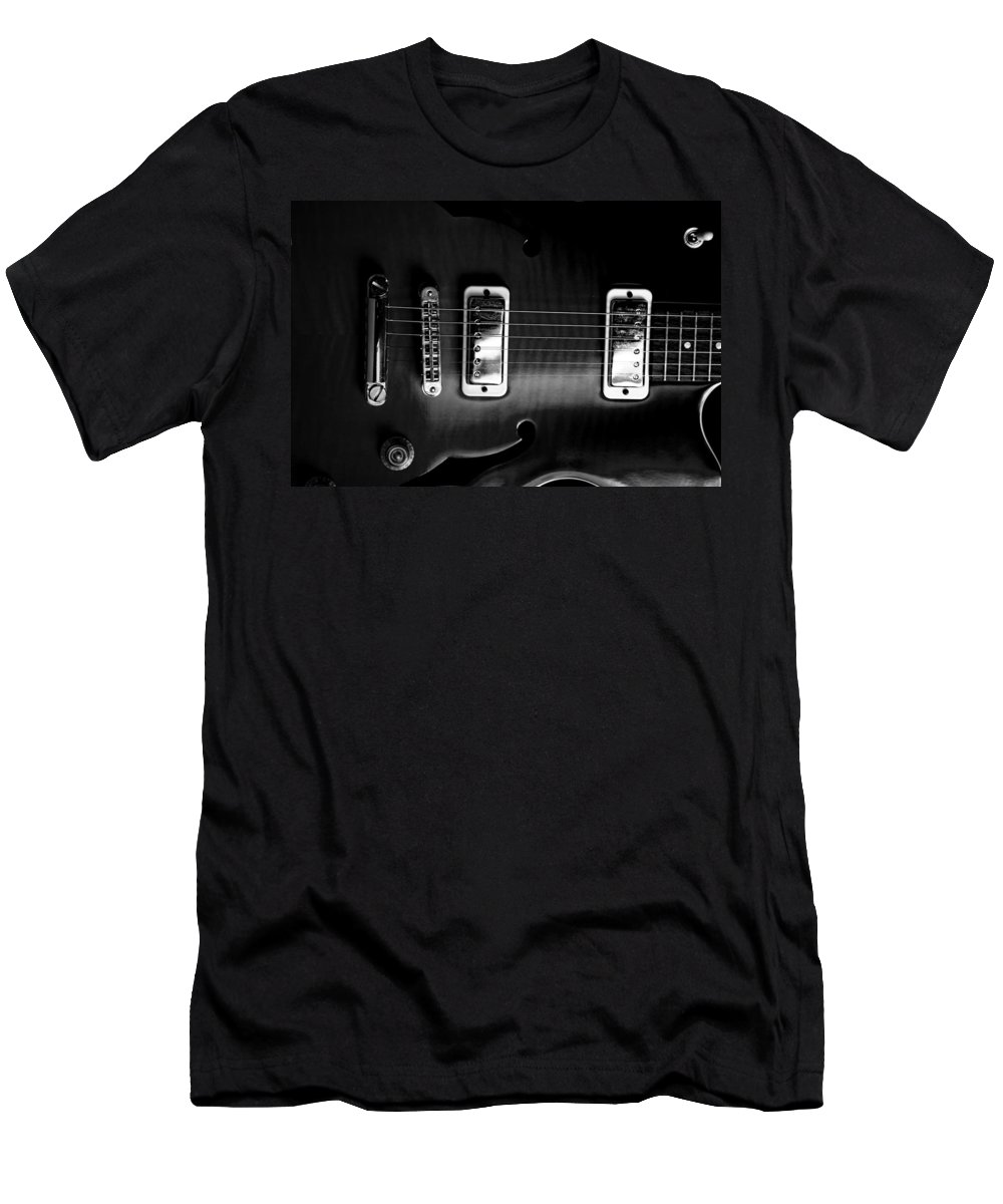 Yamaha Men's T-Shirt (Athletic Fit) featuring the photograph Monochrome Yamaha by David Weeks