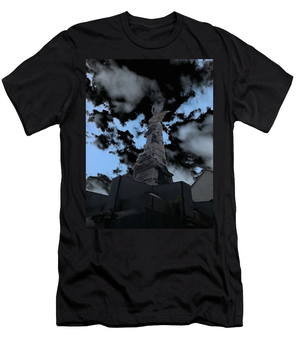 Mark J Dunn Men's T-Shirt (Athletic Fit) featuring the photograph Monterosso Al Mare by Mark J Dunn