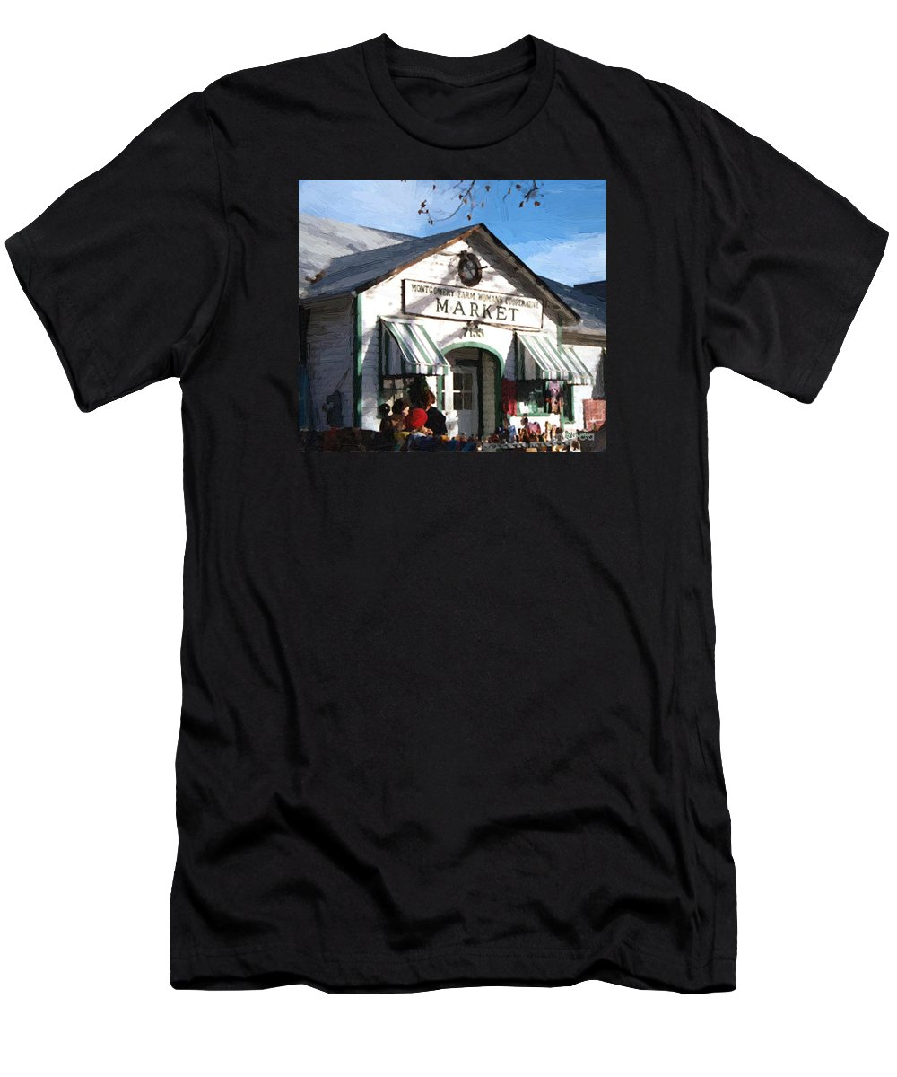 Americana Men's T-Shirt (Athletic Fit) featuring the painting Montgomery County Market by RC DeWinter