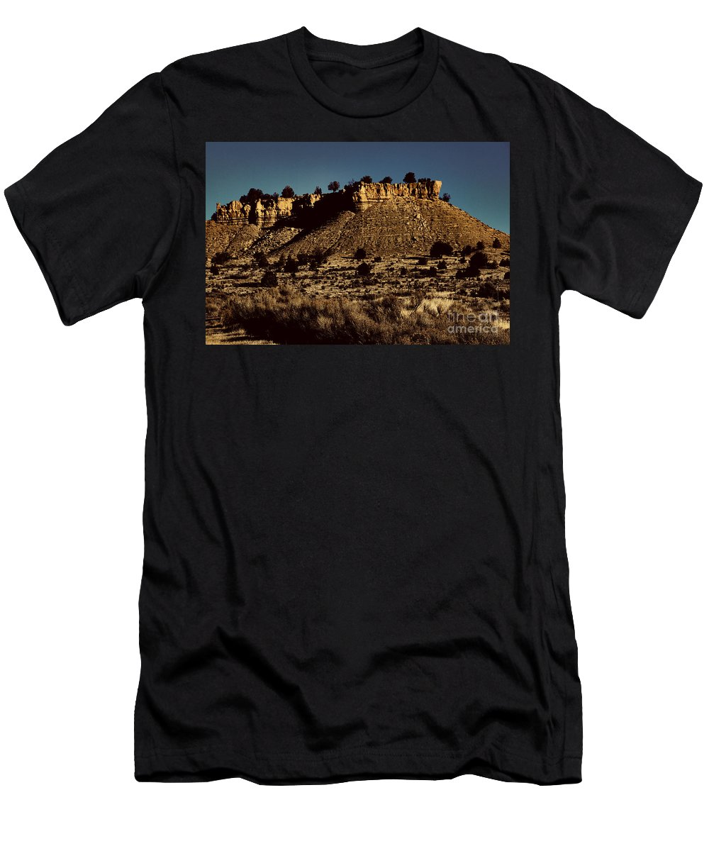 Monument Valley Men's T-Shirt (Athletic Fit) featuring the photograph Monument Valley Region-arizona V3 by Douglas Barnard