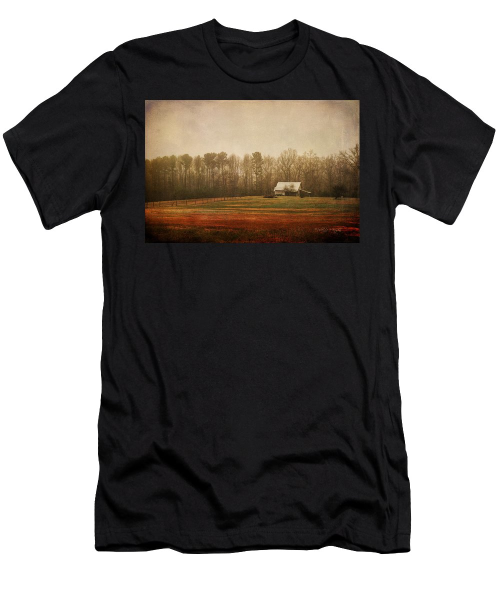 Featured Men's T-Shirt (Athletic Fit) featuring the photograph Moody Morning Stillness by Paulette B Wright