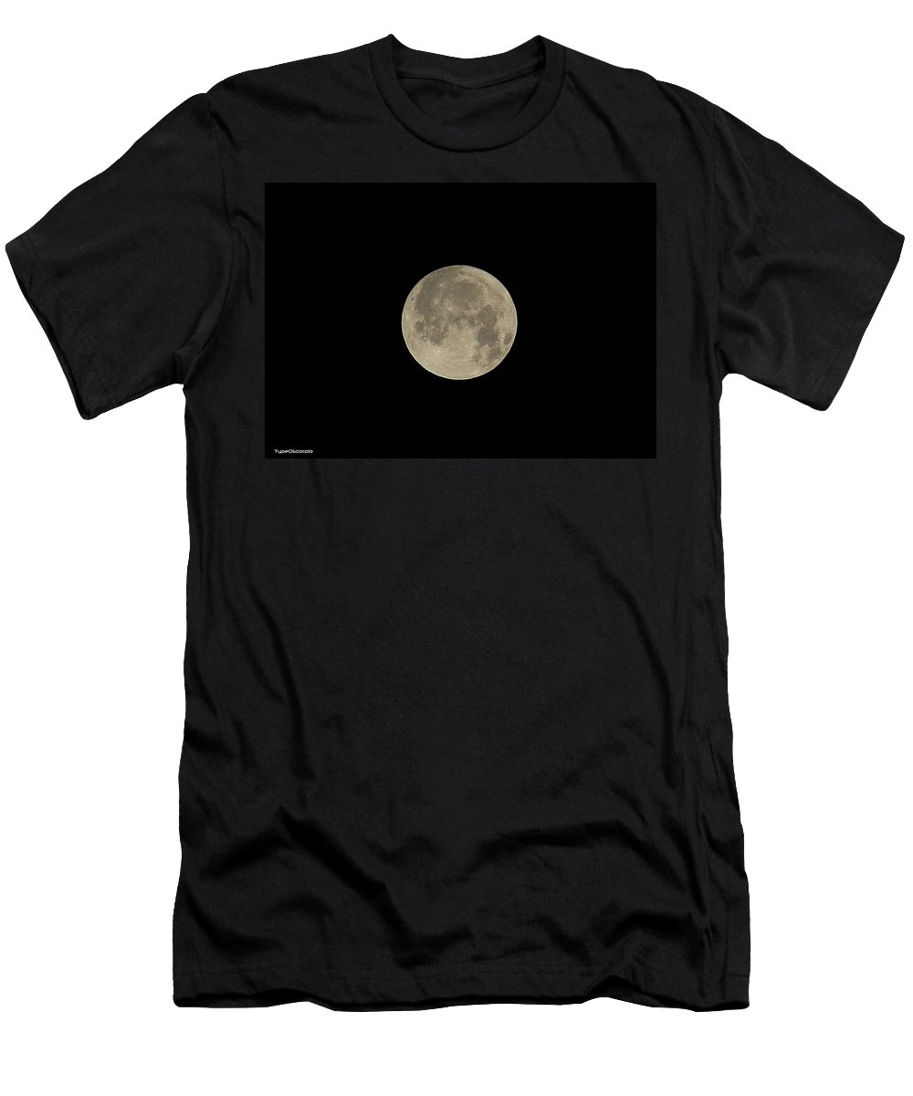 Moon Men's T-Shirt (Athletic Fit) featuring the photograph Moon by James Markey