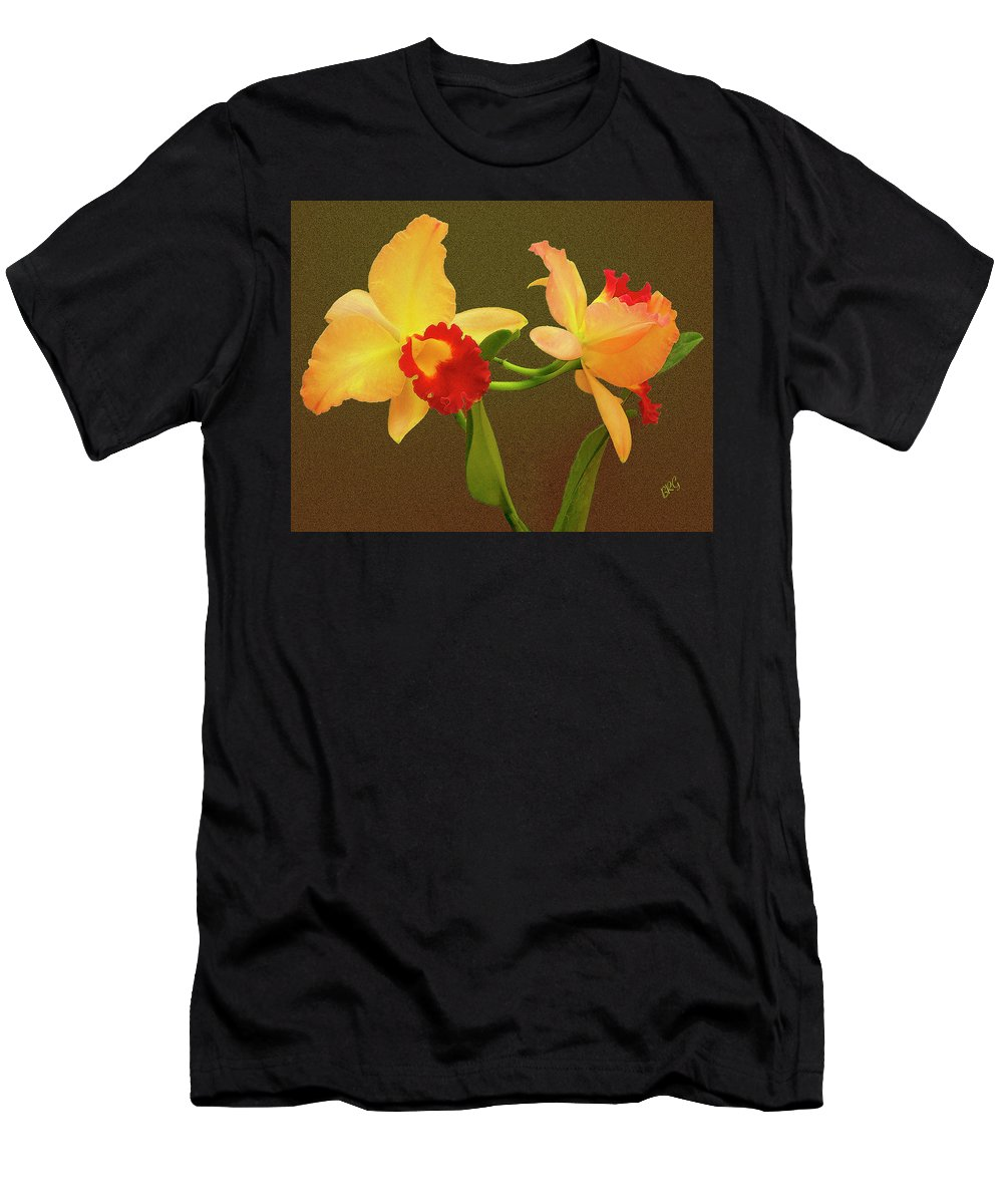 Exotic Flower Men's T-Shirt (Athletic Fit) featuring the photograph Moonlight Lady Orchid by Ben and Raisa Gertsberg