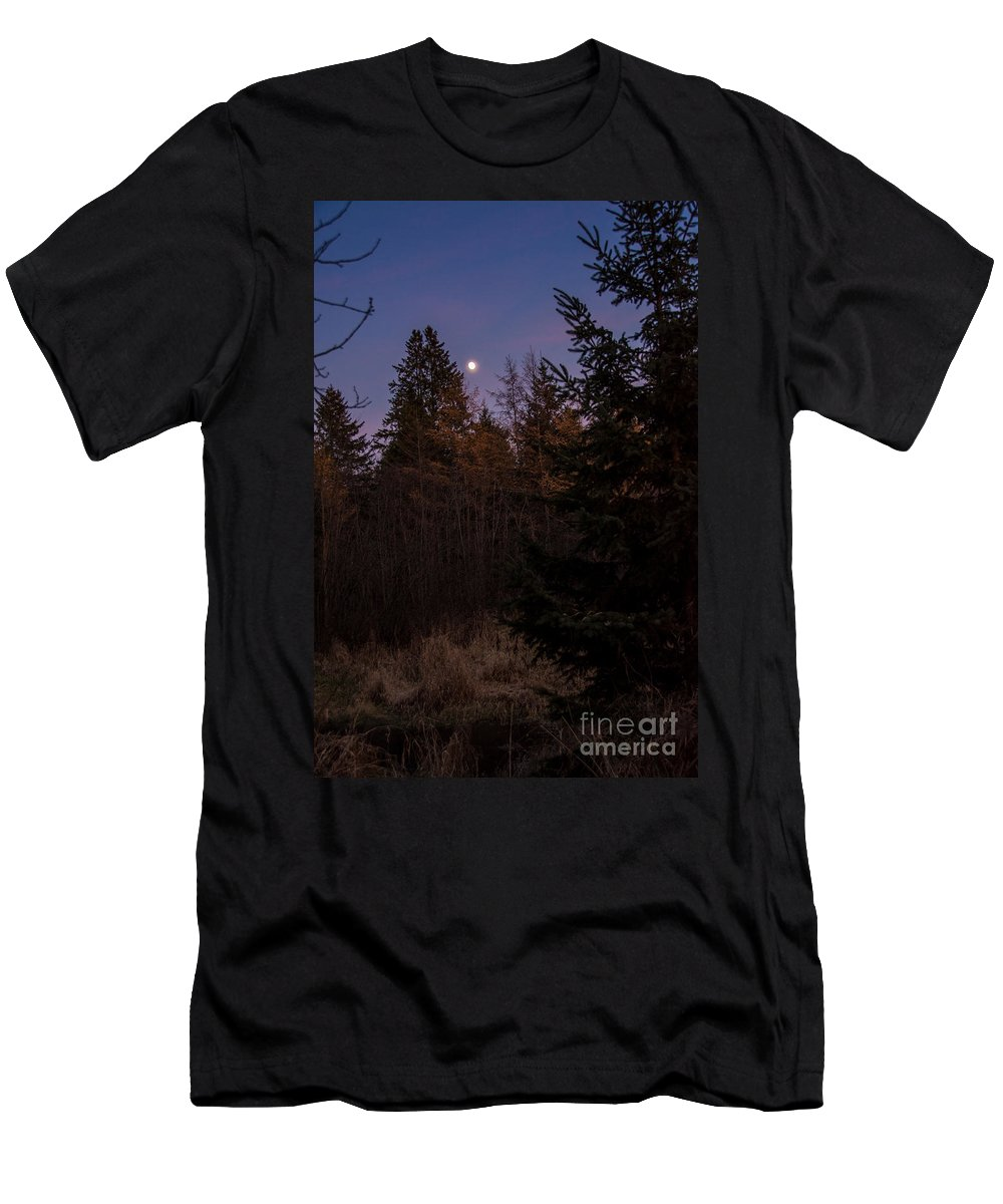Men's T-Shirt (Athletic Fit) featuring the photograph Moonlit Evening by Cheryl Baxter