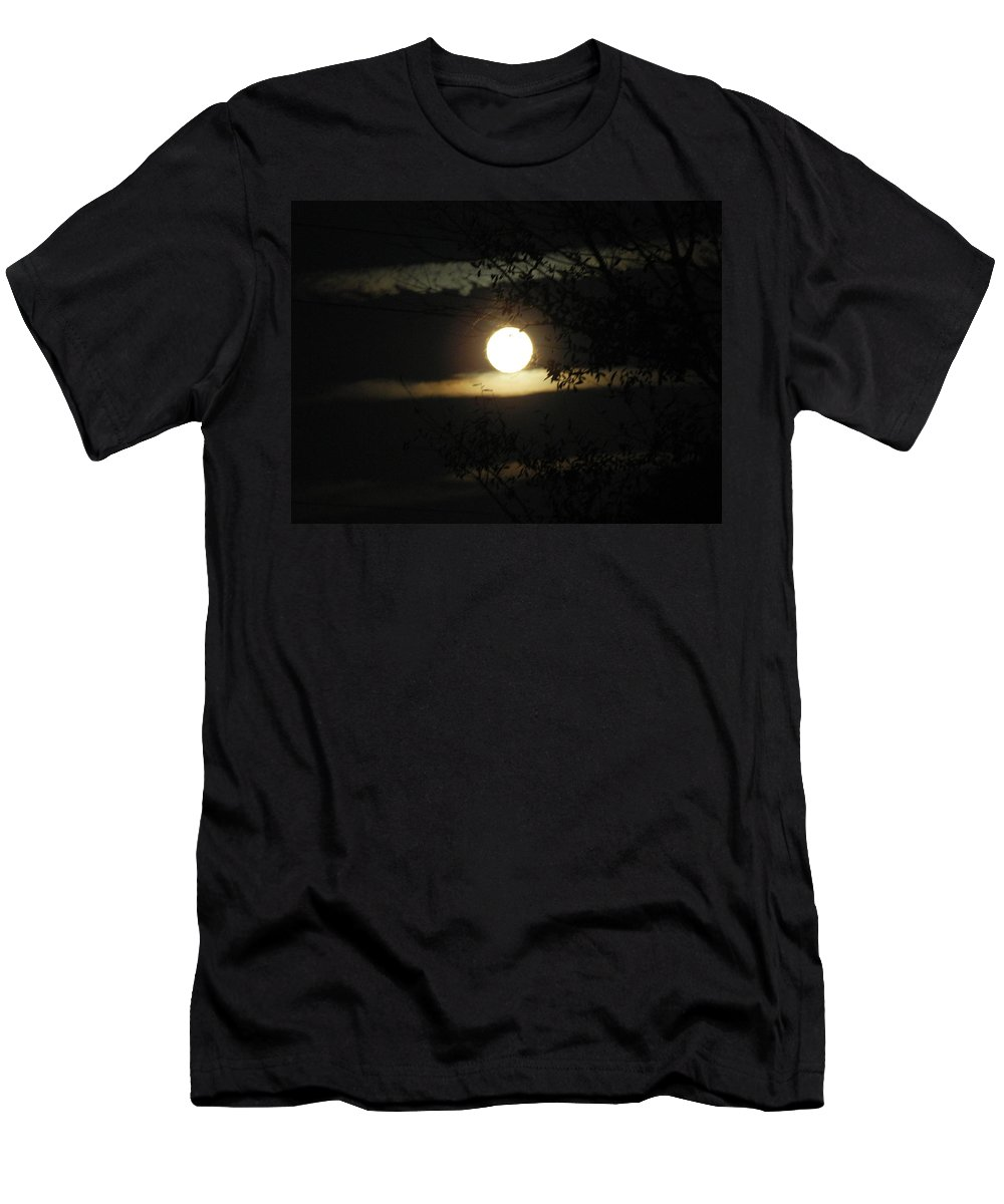 Moonshine Men's T-Shirt (Athletic Fit) featuring the photograph Moonshine by George Pedro